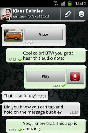'WhatsApp Messenger' screenshot