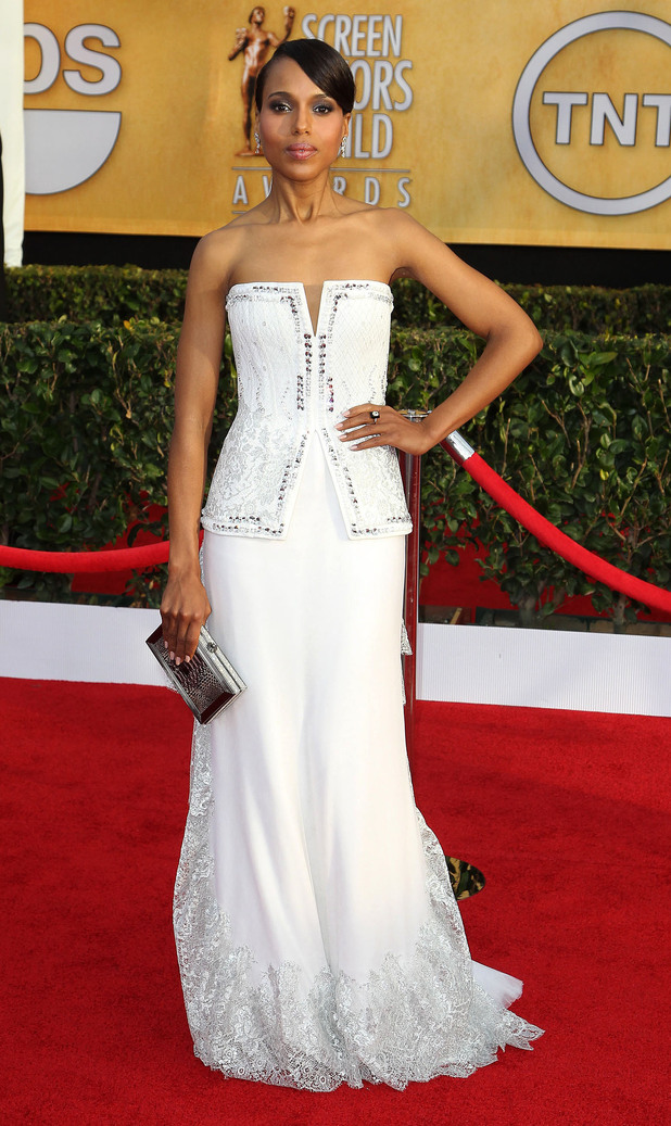 19th Annual Screen Actors Guild (SAG) Awards held at the Shrine Auditorium - Arrivals Featuring: Kerry Washington Where: Los Angeles, California, United States