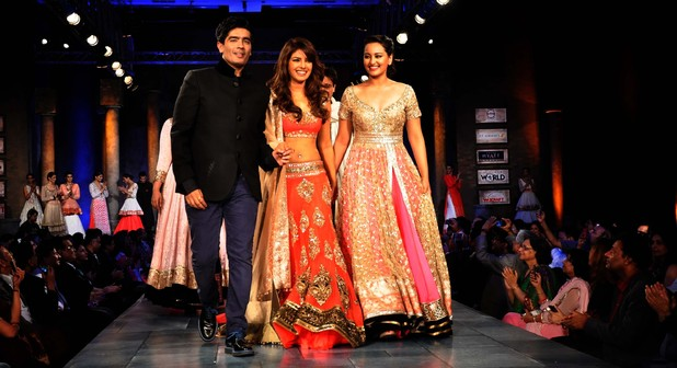 Manish Malhotra Angeli Foundation fashion event: Priyanka Chopra and Sonakshi Sinha walking the ramp with Manish Malhotra