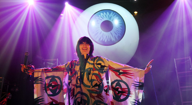 The Yeah Yeah Yeahs singer Karen O on stage at the Roundhouse in Camden, north London, as part of the 2009 Camden Crawl