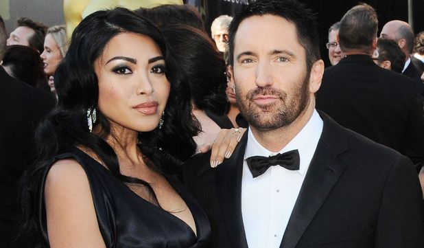 Trent Reznor with wife Mariqueen Maandig