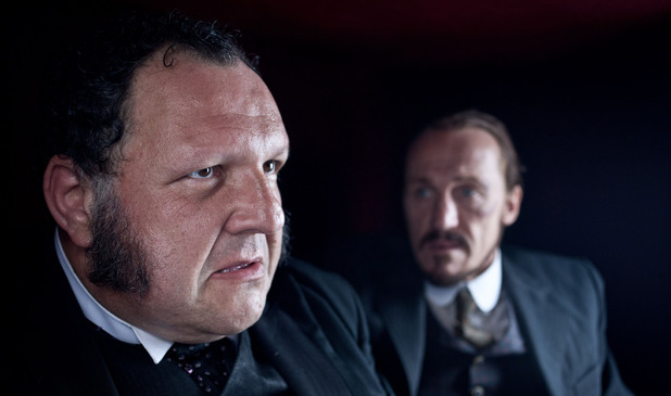 Ripper Street S01E06: &#39;Tournament of Shadows&#39; - Volsky (DAVID VERREY), Bennet Drake (JEROME FLYNN)