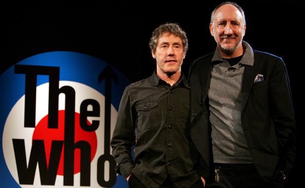 Roger Daltrey , left, and Pete Townshend, right, of The Who