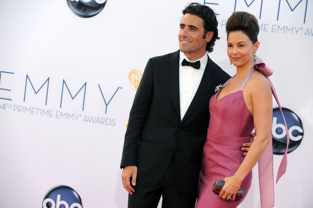 Ashley Judd and Dario Franchitti at the 2012 Emmys