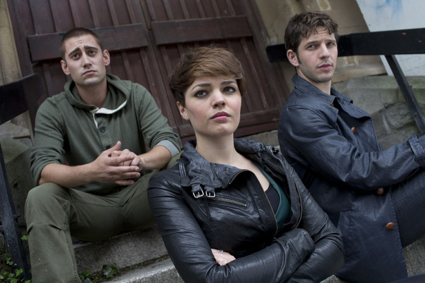 Tom (Michael Socha), Alex (KATE BRACKEN), Hal (Damien Molony)