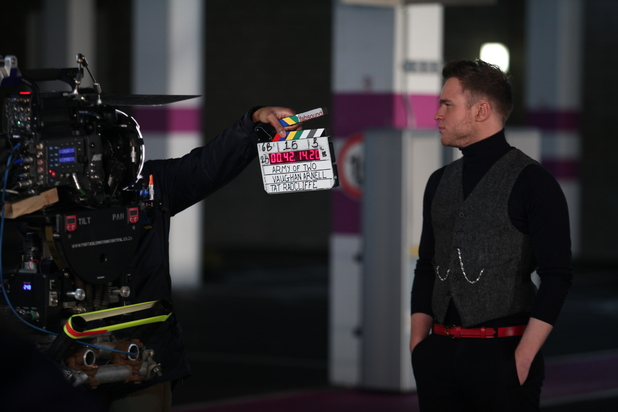 Olly Murs BTS 'Army Of Two' music video.