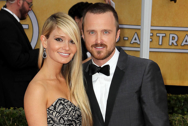 19th Annual Screen Actors Guild (SAG) Awards held at the Shrine Auditorium - Arrivals Featuring: Aaron Paul,Lauren Corrine Parsekian Where: Los Angeles, California, United States