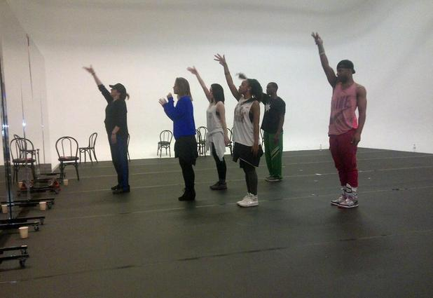 Kimberley Walsh G-A-Y rehearsal