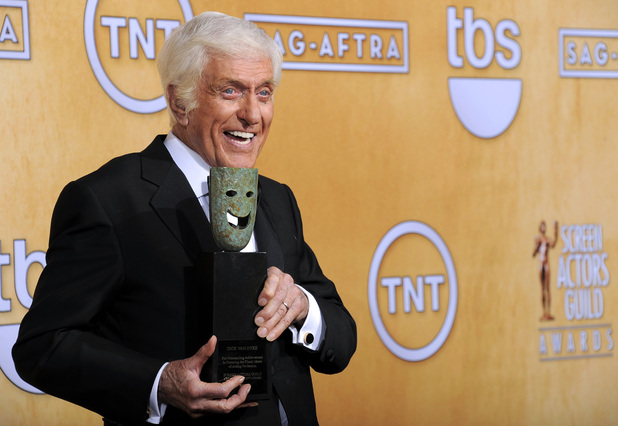 Dick Van Dyke poses backstage with his life achievement award in the press room at the 19th Annual Screen Actors Guild (SAG) Awards