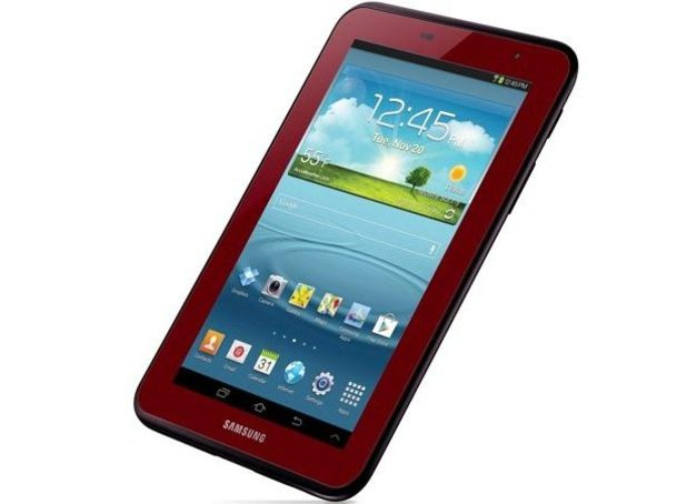 Samsung Galaxy Tab 2: Garnet Red model