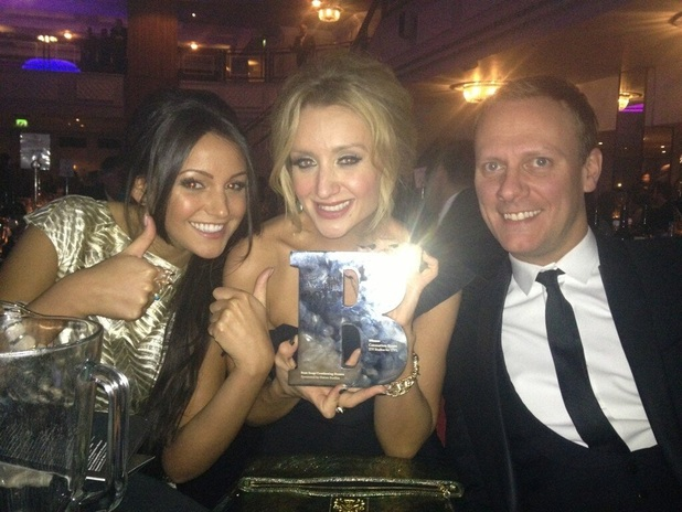 Michelle Keegan, Catherine Tyldesley and Antony Cotton at Broadcast Awards