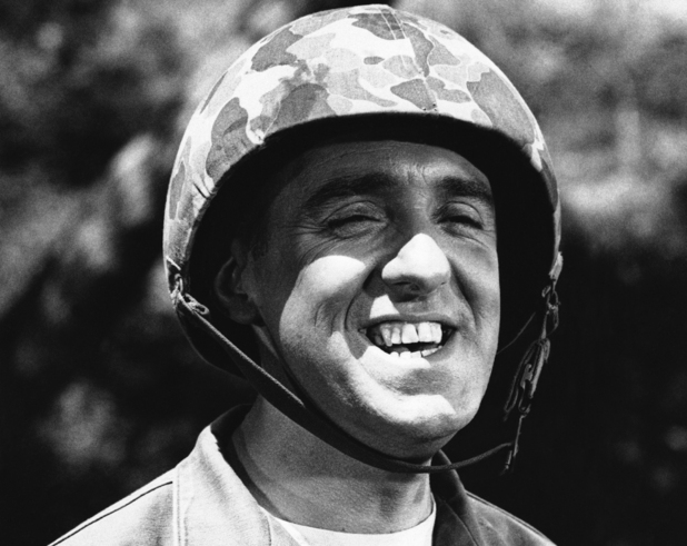 Jim Nabors is seen in character for his role of Gomer Pyle