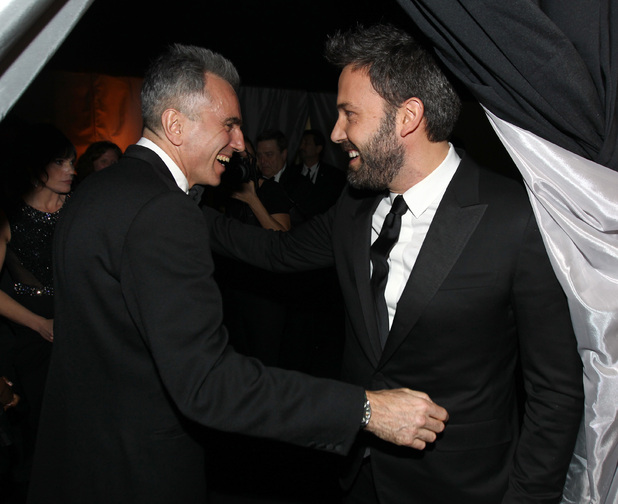 Daniel Day-Lewis and Ben Affleck backstage at the SAG Awards 2013