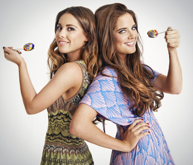 Binky Felstead and Louise Thompson