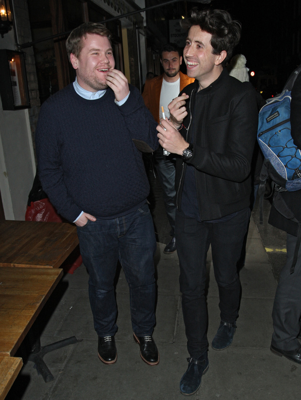 James Corden and Nick Grimshaw