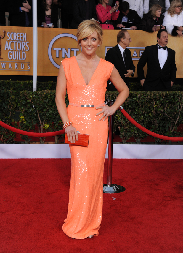 Jane Krakowski, arrives at the 19th Annual Screen Actors Guild Awards in LA.