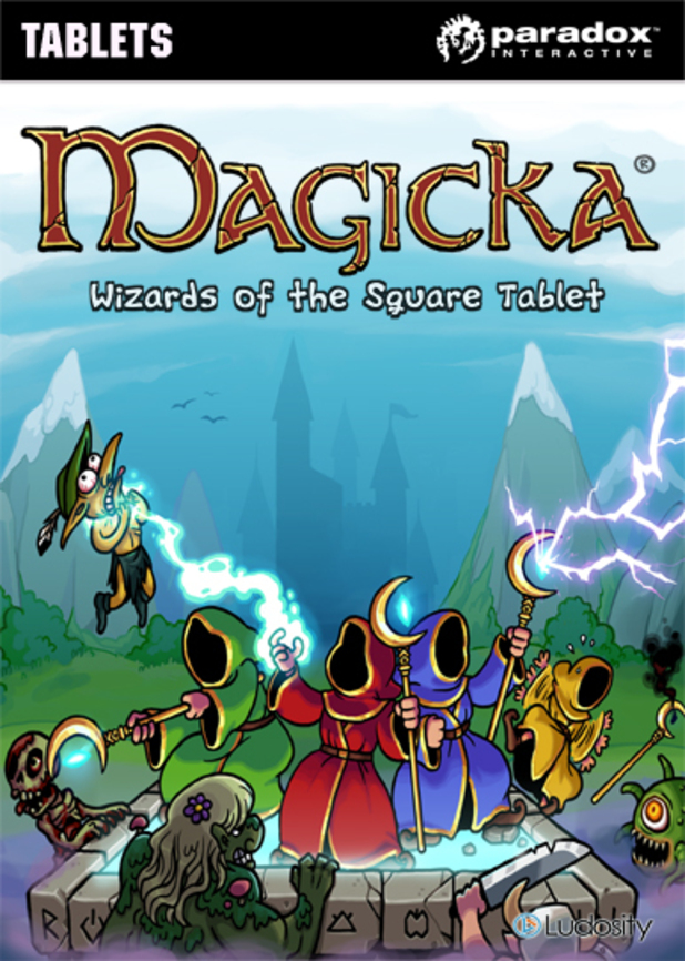 'Magicka - Wizards of the Square Tablet' pack shot