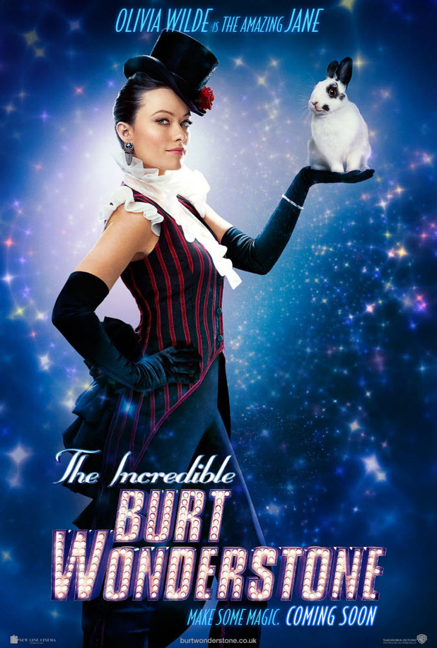 'The Incredible Burt Wonderstone' character posters; Olivia Wilde as Jane