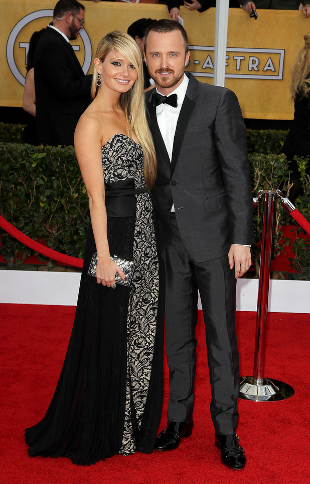 Aaron Paul and Lauren Corrine Parsekian