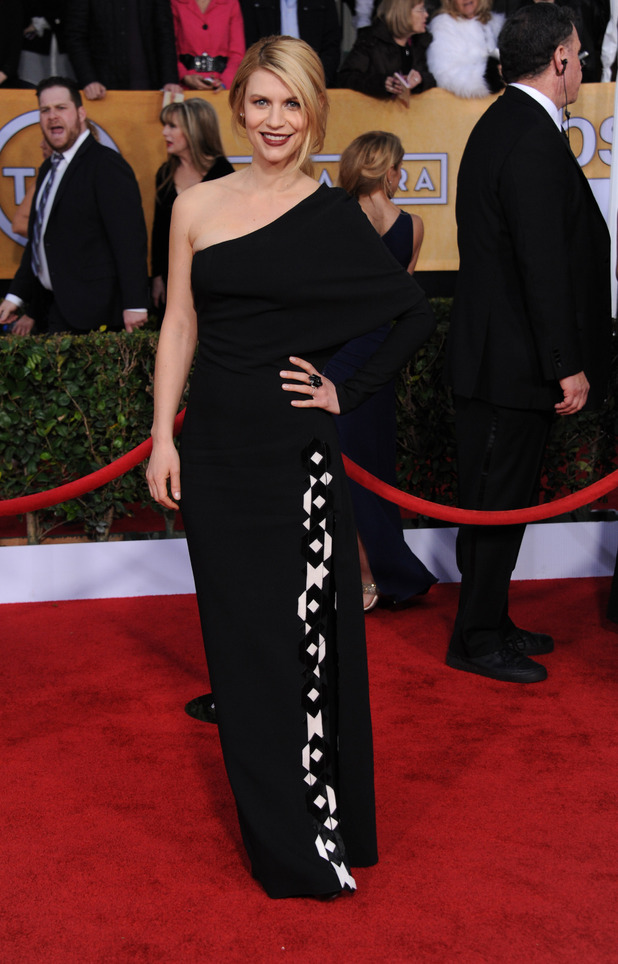 Claire Danes, arrives at the 19th Annual Screen Actors Guild Awards in LA.