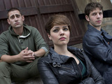 Being Human S05E01 - 'The Trinity': Tom (Michael Socha), Alex (KATE BRACKEN), Hal (Damien Molony)