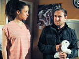 8055: Tyrone Dobbs [ALAN HALSALL] visits Kirsty Soames [NATALIE GUMEDE] and begs her to let him have access to Ruby. He's astonished when Kirsty suggests he moves back in and they wipe the slate clean. Desperate to see his daughter, will he agree or will he decide more extreme measures are called for?
