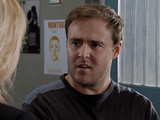 8061: Tyrone is questioned by the police and tells them Fiz had nothing to do with Ruby's abduction