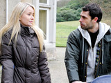 6468: Andy Sugden [KELVIN FLETCHER] is shocked at Katie Macey's [SAMMY WINWARD] honesty as she tells him she felt nothing when Declan told how much he loves her. He is disturbed when a determined Katie tells him all she has left now is money and a fancy lifestyle and that's all she is good for.