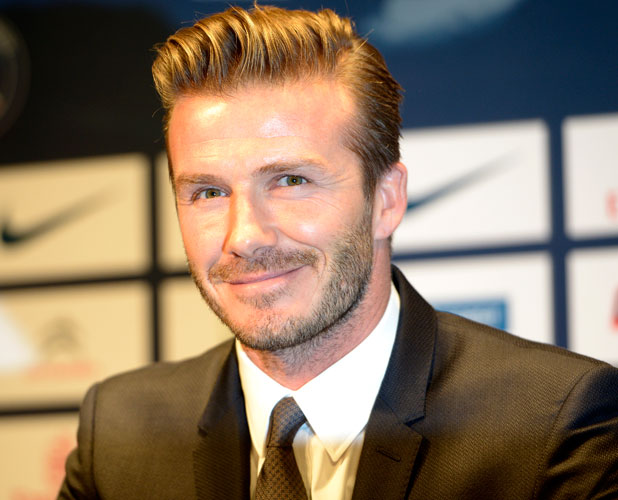 British and New PSG football player David Beckham during a press conference at the Parc des Princes stadium in Paris, France on January 31, 2013. Beckham signed a five-month deal with the Ligue 1 leader until the end of June. Photo by Mousse/ABACAPRESS.COM