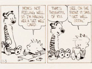 'Calvin and Hobbes' rare strip