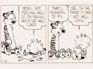 'Calvin and Hobbes' rare strip