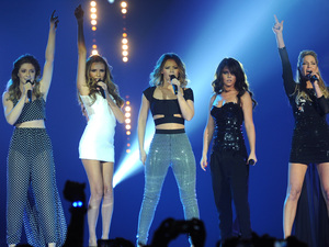 Girls Aloud performing at the Capital FM ball