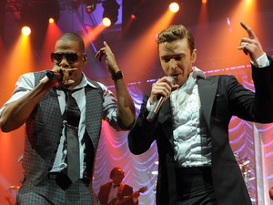 Jay-Z and Justin Timberlake - DirecTV Super Saturday Night event, New Orleans, America - 02 Feb 2013