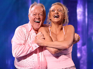 Dancing on Ice: Keith Chegwin and Olga Sharutenko.