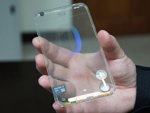 Polytron unveils world's first transparent mobile phone
