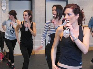 B*Witched rehearsing for The Big Reunion