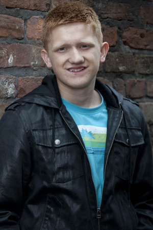 Sam Aston as Chesney Brown in Coronation Street