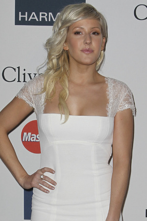 Ellie Goulding arrives at Clive Davis' Pre-Grammy Gala in Los Angeles.