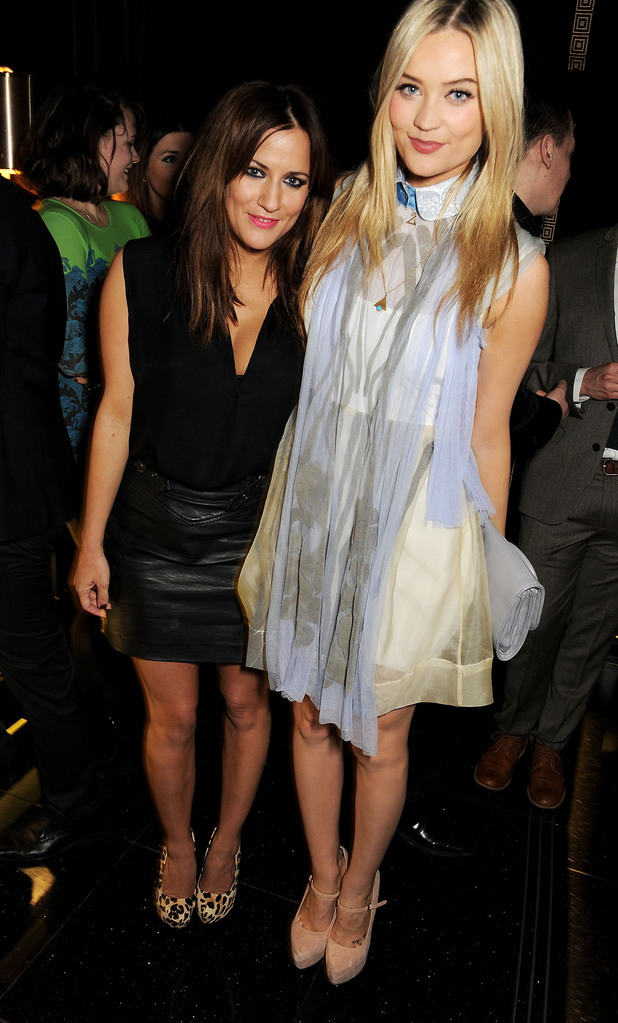 Caroline Flack, Laura Whitmore, The Savoy for a pre-BAFTA party hosted by EE and Esquire