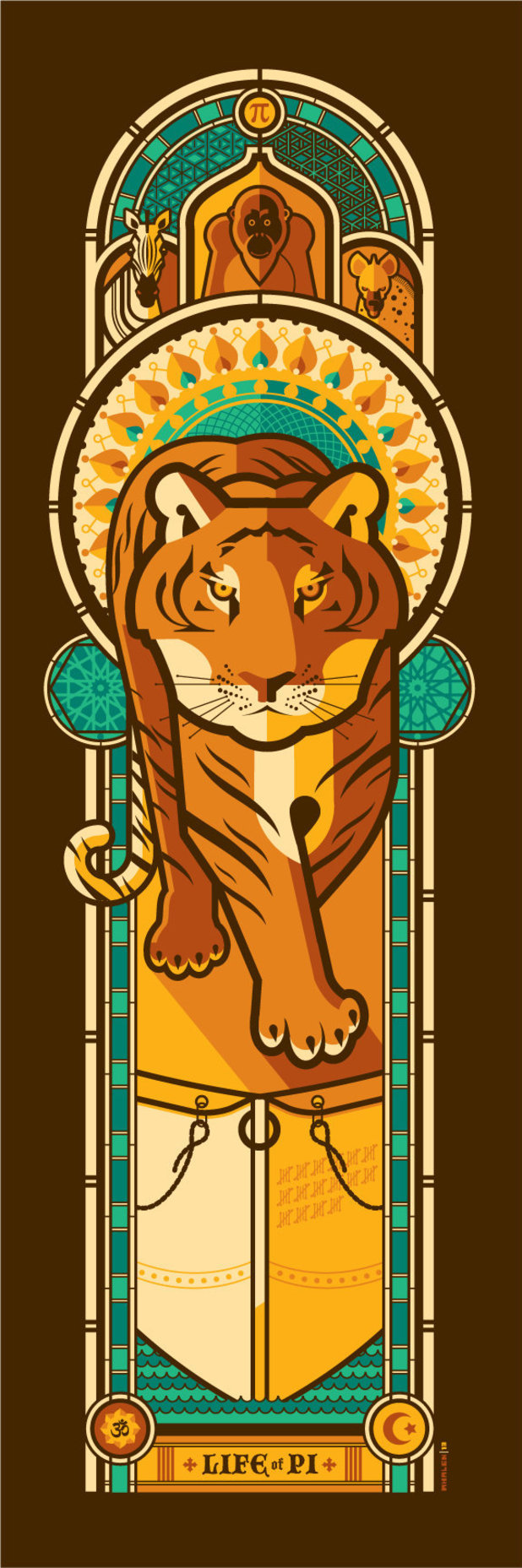 Life of PI by artist Tom Whalen.