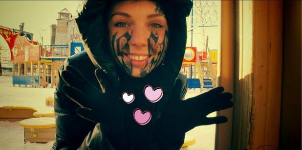 Lesya Toumaniantz gets tattoo of boyfriend Ruslan's name across her face