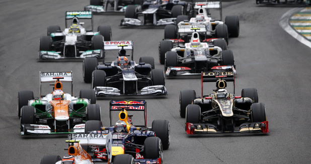 Formula One Brazilian Grand Prix at the Interlagos race track in Sao Paulo, Brazil