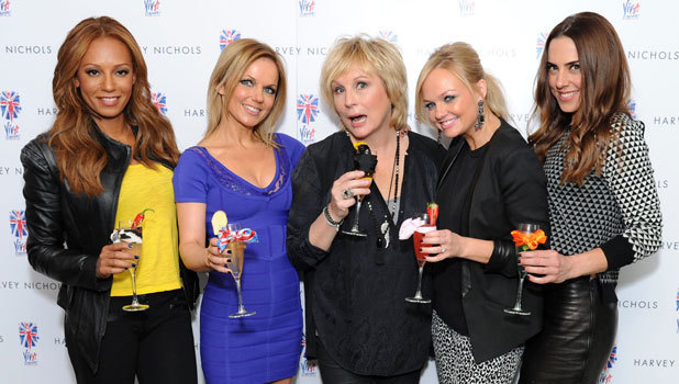 The Spice Girls and Jennifer Saunders at the Viva Forever cocktail launch in London