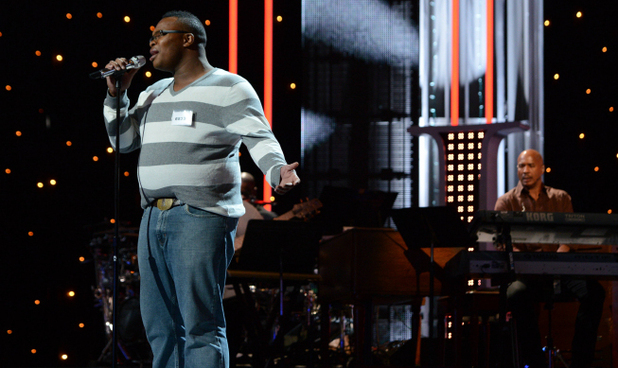 Micah Johnson performs during the boys solo round of Hollywood week on 'American Idol'