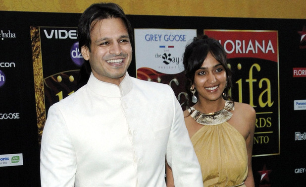 Vivek Oberoi and wife Priyanka Alva 