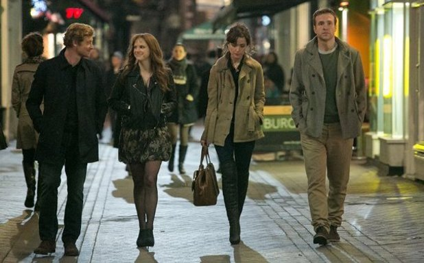 Simon Baker, Rose Byrne, Anna Faris and Rafe Spall in 'I Give It A Year'