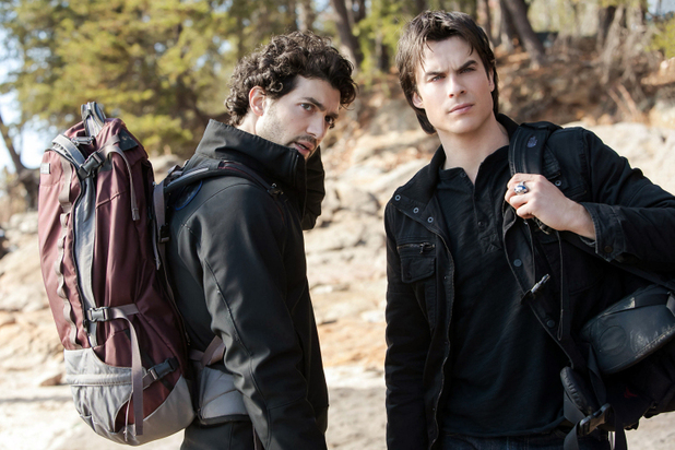 David Alpay as Professor Shane and Ian Somerhalder as Damon in The Vampire Diaries S04E13 ('Into The Wild')