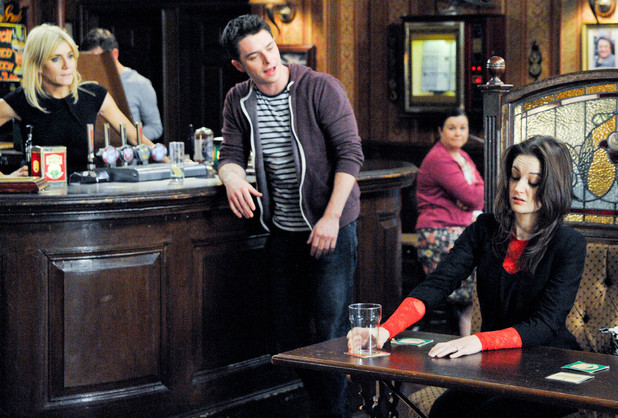 Kylie drinks at The Rovers