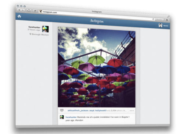 Instagram web-based photo feed