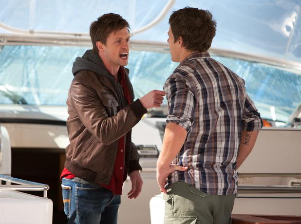 Brax and Kyle threaten Jamie.